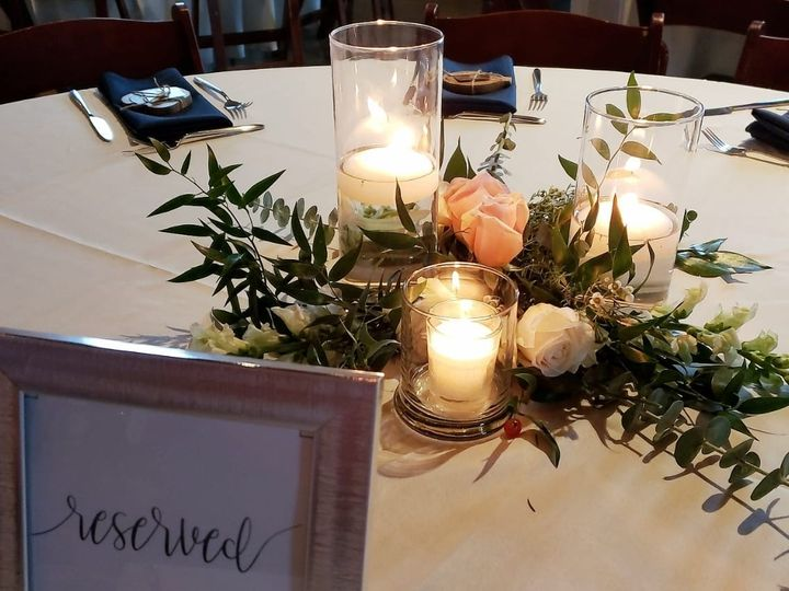 Tmx Petale Centerpieces Candles 51 1010637 157834256362215 Raleigh, North Carolina wedding florist