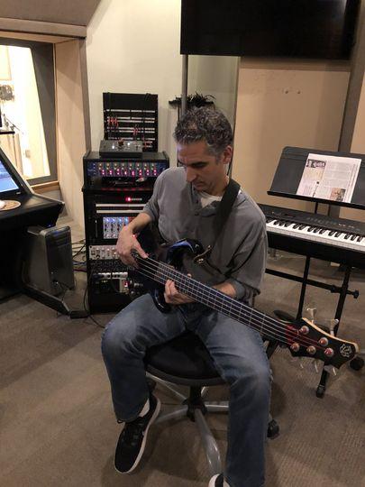 John overdubbing bass