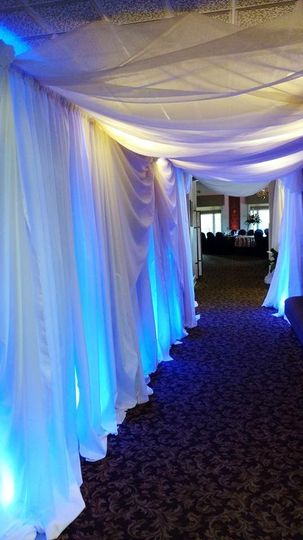 Draping the entrance