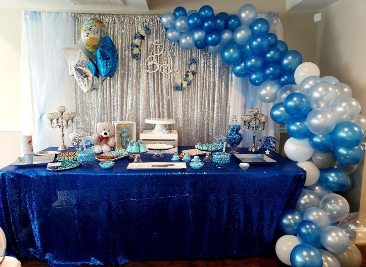 Boy Baby Shower Dessert Table