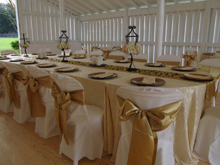 reception in a renovated barn
