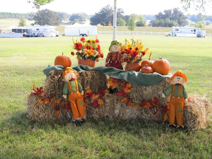 decor at The Ocala Pumpkin Run 2011--Horsepower in the heart of horse country.