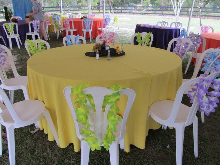 Hawaiin themed reception