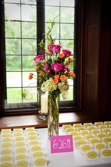 Tall floral arrangement
