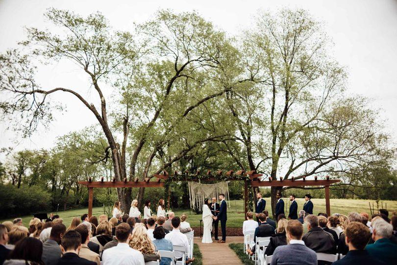 Indoor wedding cermony