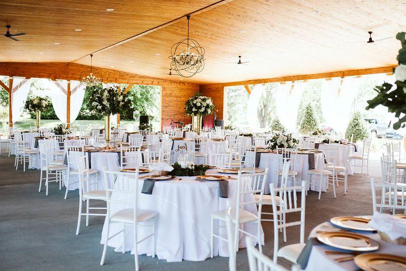 Reception set up for 150