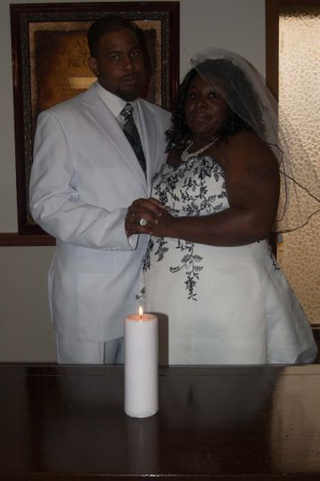 A beautiful African American couple I married.