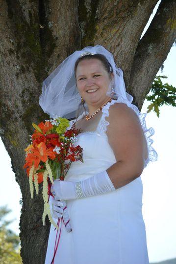 A stunning wedding portrait