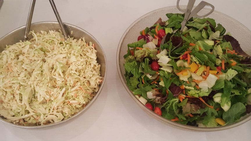 Whether it's coleslaw or salad, we're happy to provide options to make the meal as special as your...