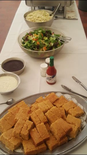 Cornbread and Coleslaw bring a taste of familiar family gatherings to any wedding.