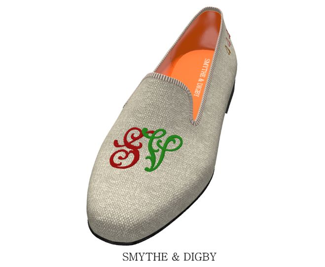 Custom monogrammed loafers