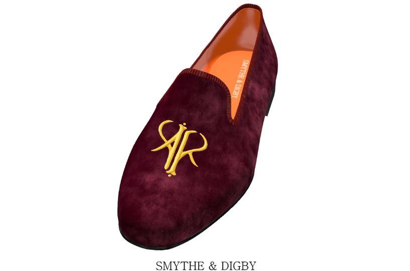 Custom monogrammed slippers