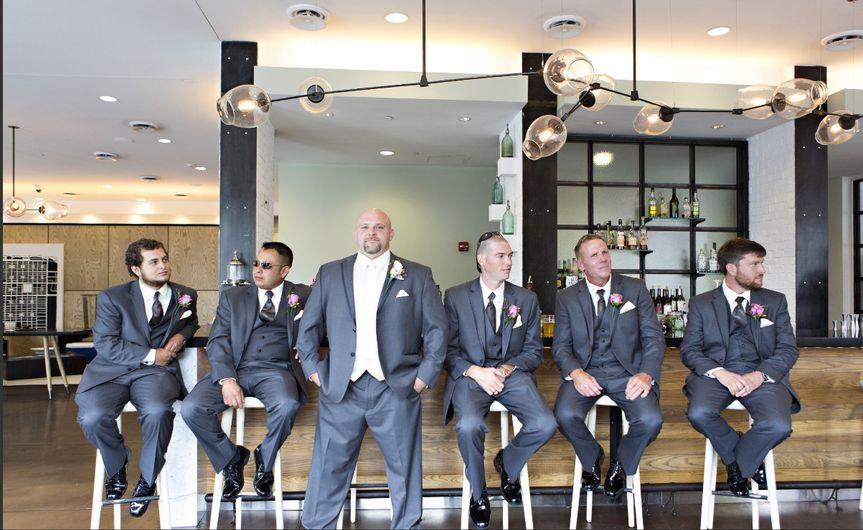 Groomsmen at 22 square bar