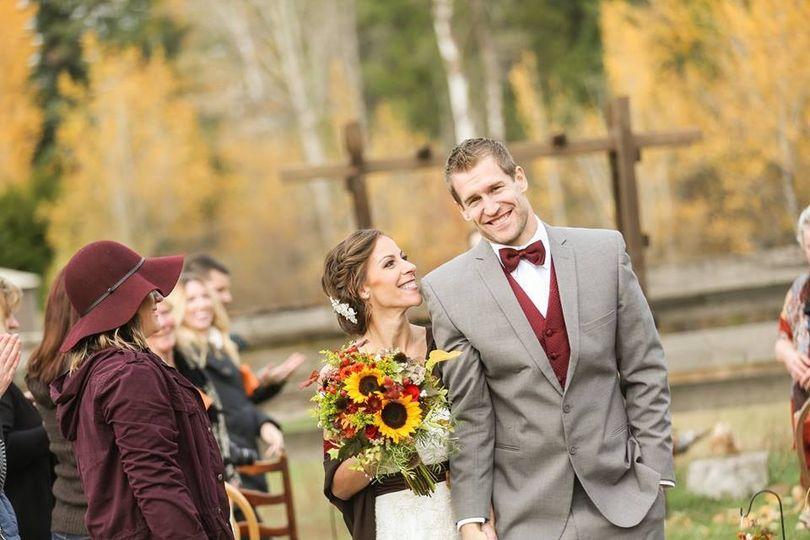 Sunflower fall wedding
