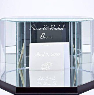 Wedding Card and Money Glass Box