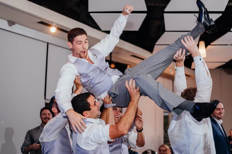 Groom is having fun