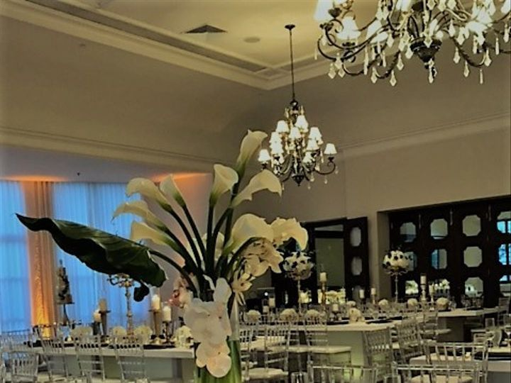 Tmx 1504053022280 Calla And Orchid Tall Centerpiece Bath Club Miami wedding catering