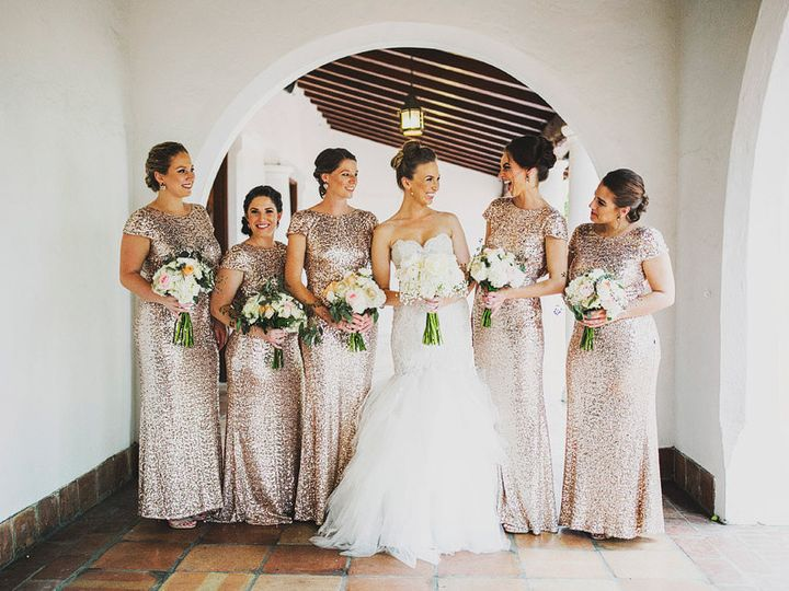 Tmx 1504053090646 Bridesmaids Bouquets Blush Pink And White Miami wedding catering