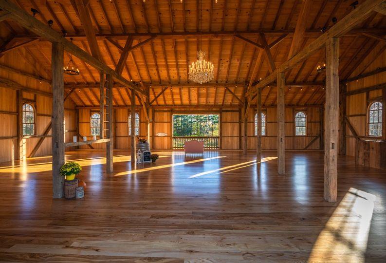 Chandelier in the barn