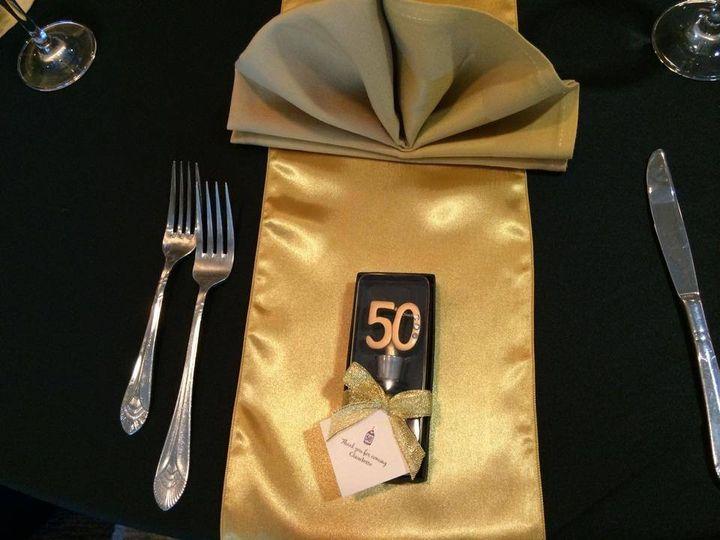 Golden napkins