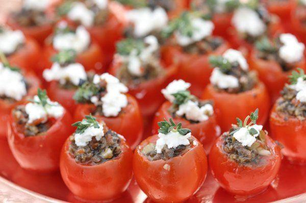 Tapenade Stuffed Cherry Tomatoes