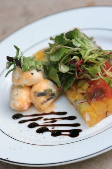 Heirloom Tomato Terrine with Fresh Mozzarella