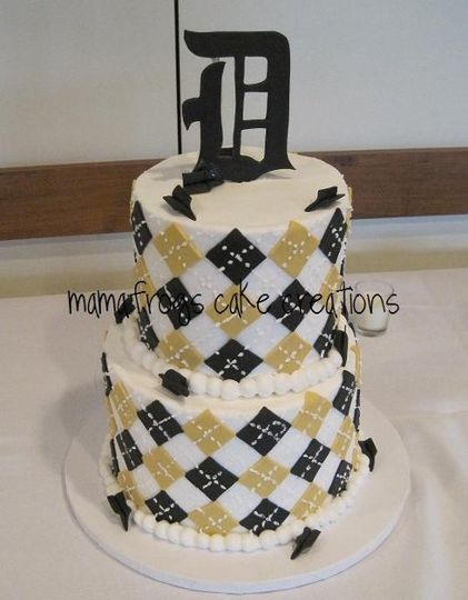 2 tier groom's cake, design inspired by Benny Gold designs.