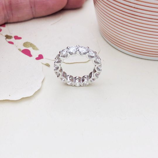 U Prong Diamond eternity Band