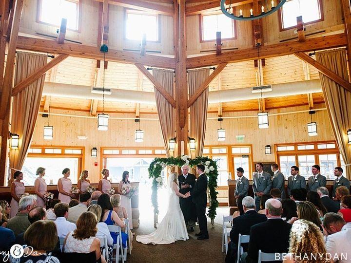 Indoor wedding ceremony space