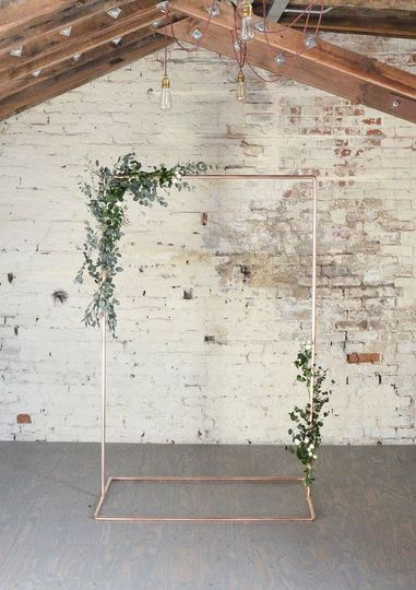copper wedding backdrop frame for flowers garlands 51 1042737