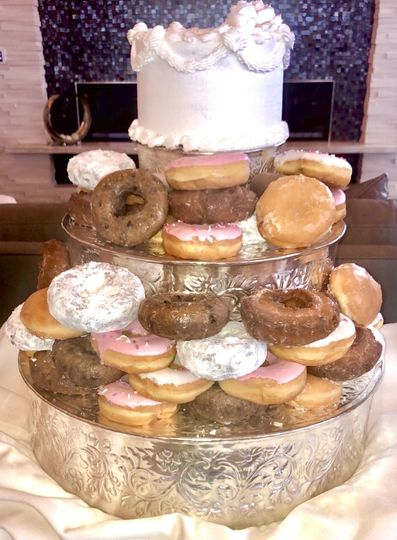 Donut cake! So fun.