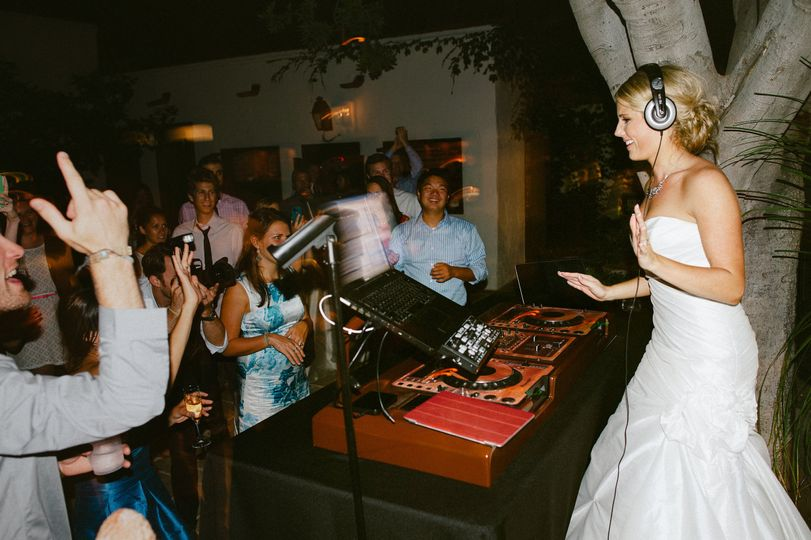 Bride on the decks