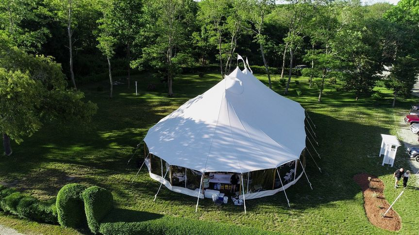 View of the tent from above - Sagamore Inn Restaurant