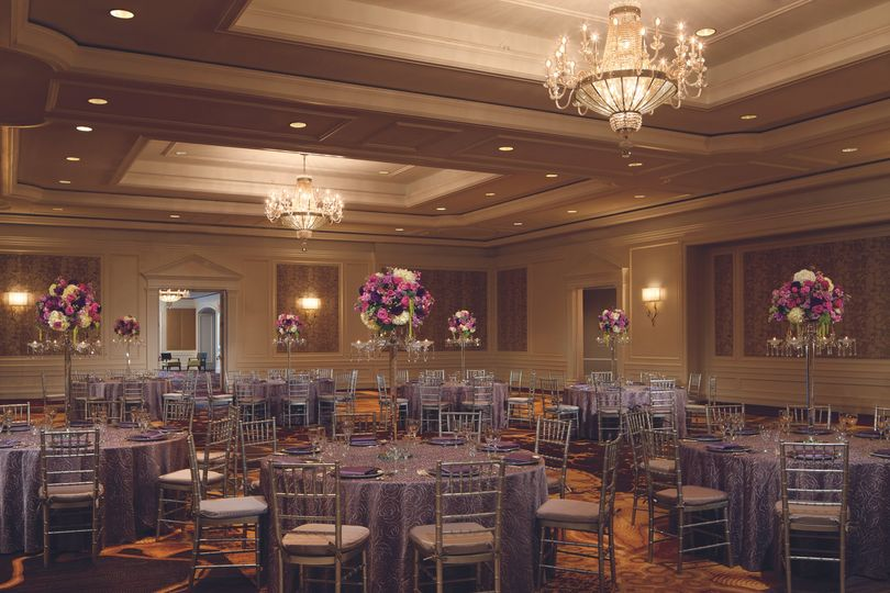 A banquet-style reception