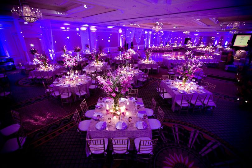 Reception layout and dance floor