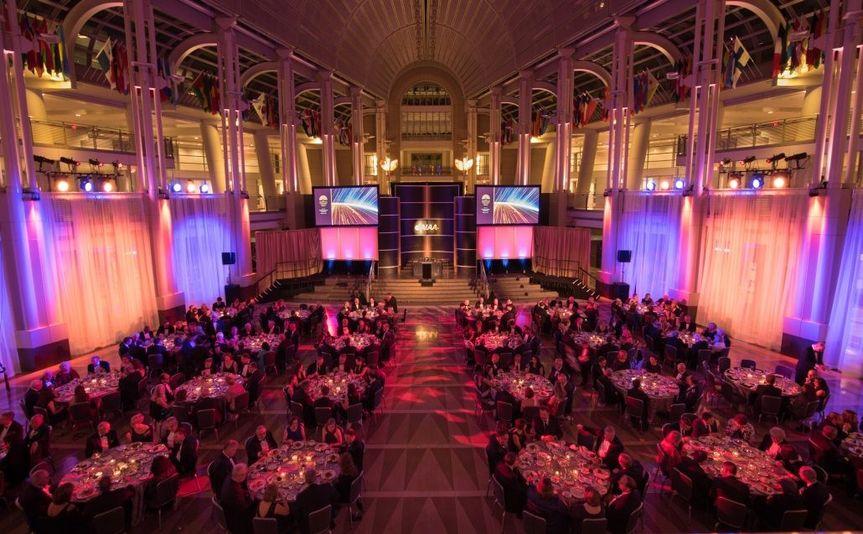 Full Ballroom Lighting at the Reagan Building