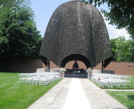 Outdoor wedding ceremony area