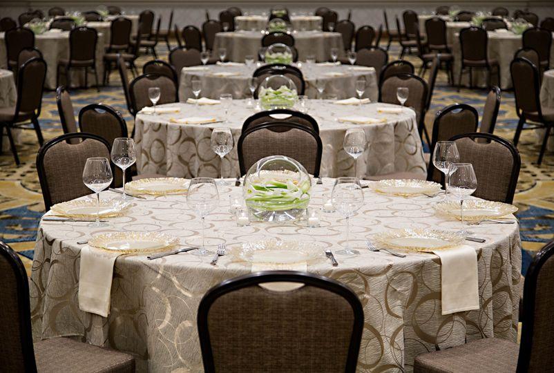 ballroom set closeup