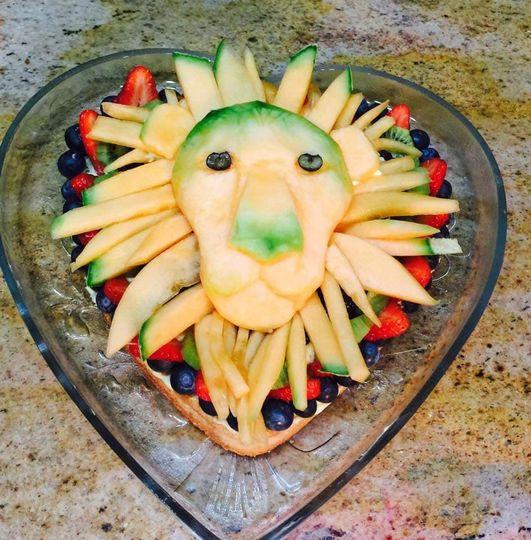 Sculpted Mango Fruit Tart