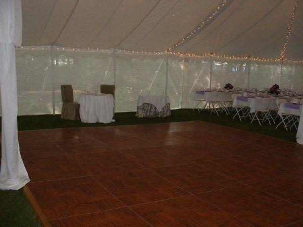 Dance floor in the tent