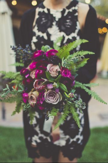 Plum and purple bouquet