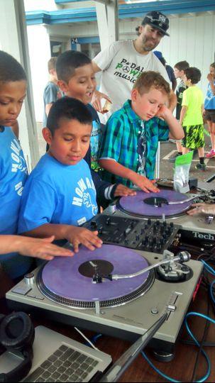 Teaching a class on DJing :)