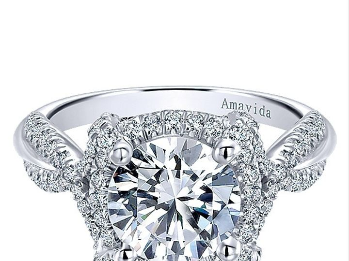 Tmx 1475010666187 Gabriel 18k White Gold Diamond Halo Engagement Rin West Chester wedding jewelry