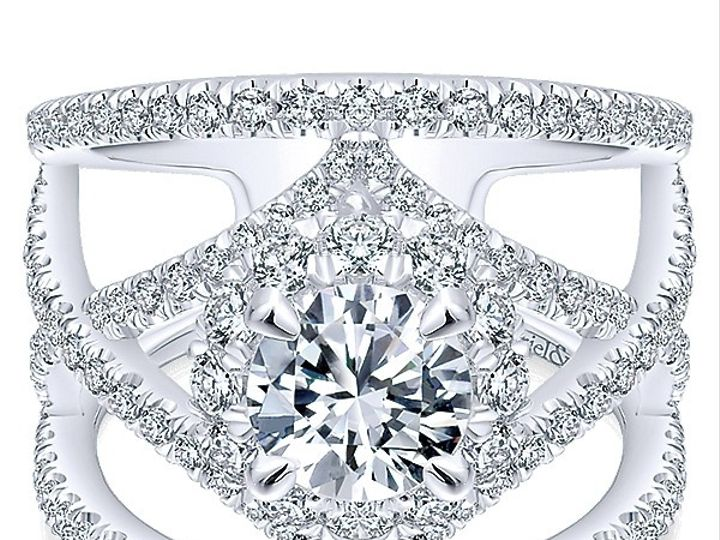 Tmx 1475010686993 Gabriel 14k White Gold Diamond Halo Engagement Rin West Chester wedding jewelry