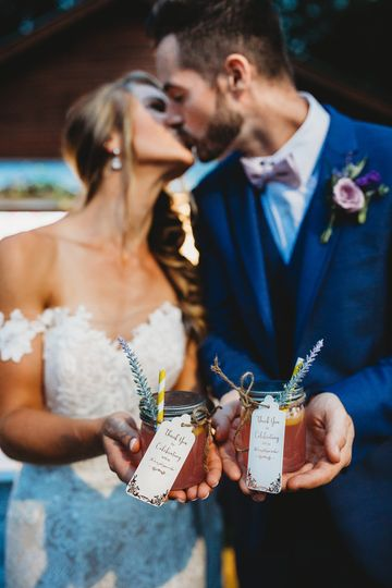 Cheers to the Mr. + Mrs.