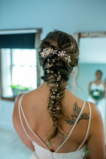 Intricate Bridal weave