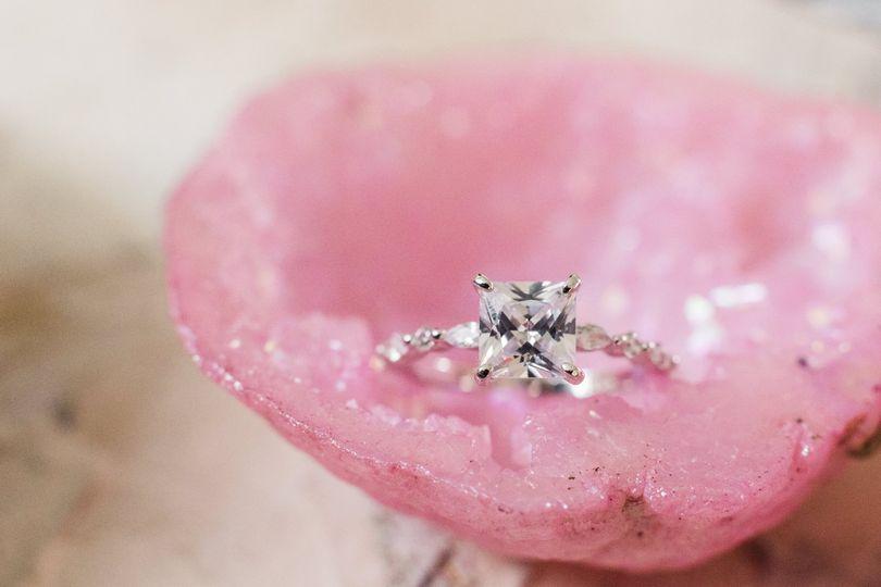 Blush Pink geode ring box