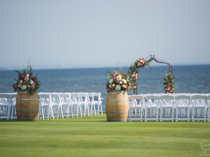 Tmx Barrel Style Arrangements 51 491837 East Greenwich, RI wedding florist