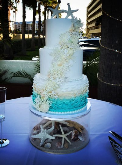 Sea inspired cake