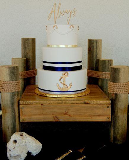 Navy blue ribbon bands
